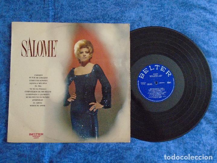 SALOME SPAIN LP 1972 RECOPILATORIO GRANDES EXITOS POP FEMENINO CHANSON VOCAL BELTER BUEN ESTADO MIRA (Música - Discos - LP Vinilo - Solistas Españoles de los 70 a la actualidad)
