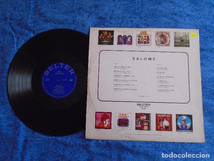 Discos de vinilo: SALOME SPAIN LP 1972 RECOPILATORIO GRANDES EXITOS POP FEMENINO CHANSON VOCAL BELTER BUEN ESTADO MIRA - Foto 2 - 273423883
