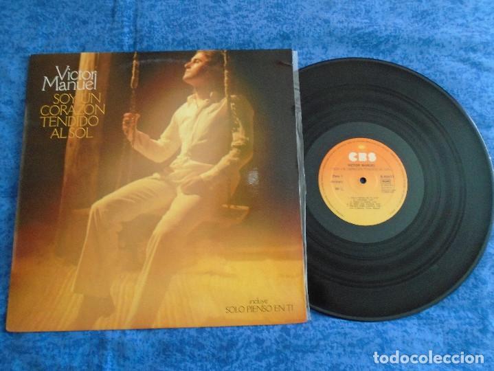 VICTOR MANUEL SPAIN LP 1978 SOY UN CORAZON TENDIDO AL SOL SOLO PIENSO EN TI POP BALADAS BUEN ESTADO! (Música - Discos - LP Vinilo - Solistas Españoles de los 70 a la actualidad)