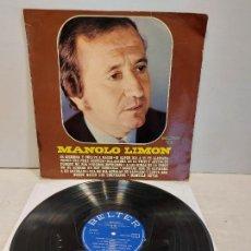 Discos de vinilo: MANOLO LIMON / MISMO TÍTULO / LP - BELTER-1975 / MBC. ***/***. Lote 273445888