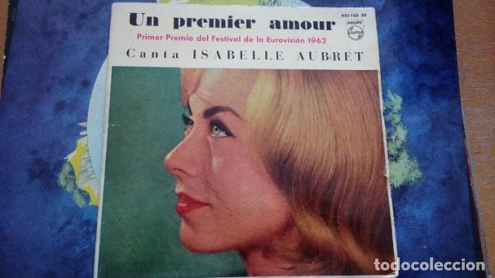 ISABELLE AUBRET UN PREMIER AMOUR - PRIMER PREMIO DEL FESTIVAL DE LA EUROVISIÓN 1962 EP SPAIN (Música - Discos de Vinilo - EPs - Festival de Eurovisión)