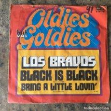 Dischi in vinile: LOS BRAVOS - BLACK IS BLACK / BRING A LITTLE LOVIN . SINGLE . GERMANY. Lote 273451493