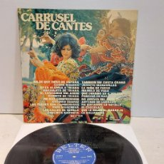 Discos de vinilo: CARRUSEL DE CANTES / DIVERSOS ARTISTAS / LP - BELTER-1974 / MBC. ***/***. Lote 273489773