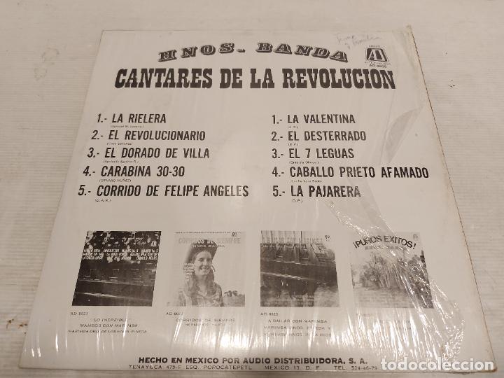 Discos de vinilo: HERMANOS BANDA / CANTARES DE LA REVOLUCIÓN / LP - AD-1973-MEXICO / P R E C I N T A D O. ***** - Foto 2 - 273491518