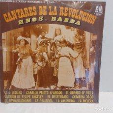 Discos de vinilo: HERMANOS BANDA / CANTARES DE LA REVOLUCIÓN / LP - AD-1973-MEXICO / P R E C I N T A D O. *****. Lote 273491518