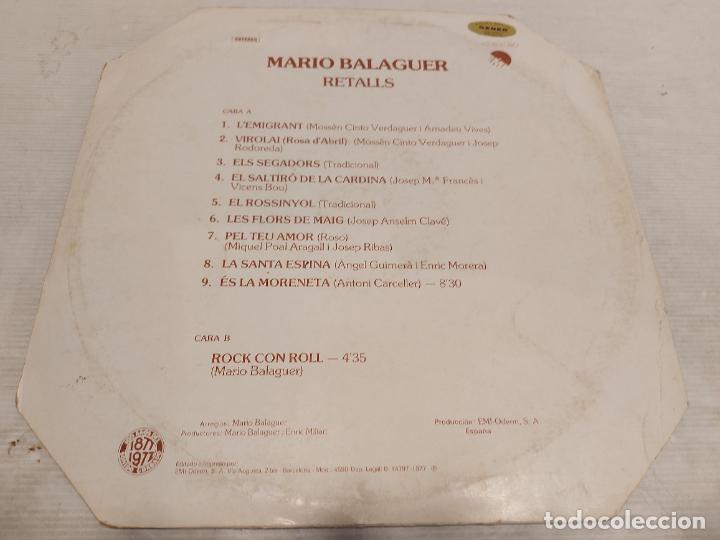 Discos de vinilo: MARIO BALAGUER / RETALLS / MAXI SG-EMI-1977 / MBC. ***/*** - Foto 2 - 273492948