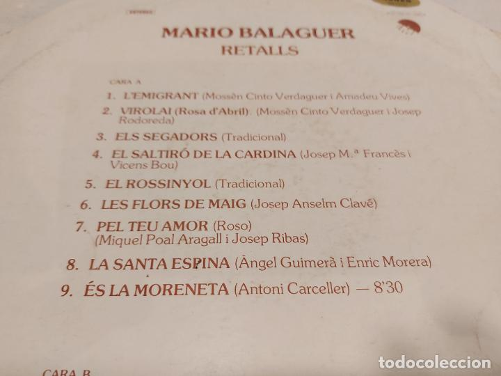 Discos de vinilo: MARIO BALAGUER / RETALLS / MAXI SG-EMI-1977 / MBC. ***/*** - Foto 3 - 273492948