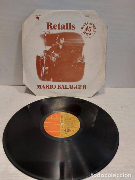 MARIO BALAGUER / RETALLS / MAXI SG-EMI-1977 / MBC. ***/*** (Música - Discos de Vinilo - Maxi Singles - Solistas Españoles de los 70 a la actualidad)