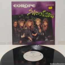 Discos de vinilo: EUROPE - SUPERSTITIOUS 1988 ED HOLANDESA. Lote 273727103