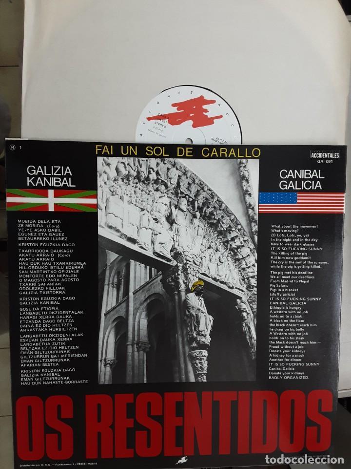 "12"" OS RESENTIDOS, FAI UN SOL DE CARALLO, GALICIA CANIBAL (Música - Discos de Vinilo - Maxi Singles - Grupos Españoles de los 70 y 80)"