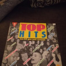 Discos de vinilo: DOBLE LP TOP HITS. VARIOS ARTISTAS. EDICIÓN HISPAVOX DE 1991.CAR. Lote 273750778