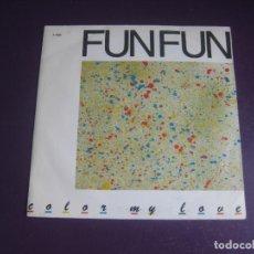Dischi in vinile: FUN FUN – COLOR MY LOVE - SG CFE 1985 PROMO - ITALODISCO DISCO 80'S - SIN ESTRENAR. Lote 273946153