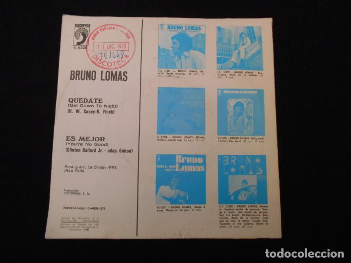 Discos de vinilo: BRUNO LOMAS // QUEDATE - ESMEJOR - Foto 2 - 274010703