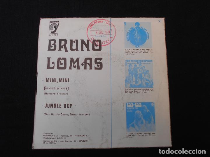 Discos de vinilo: BRUNO LOMAS // MINI, MINI - JUNGLE HOP - Foto 2 - 274012018