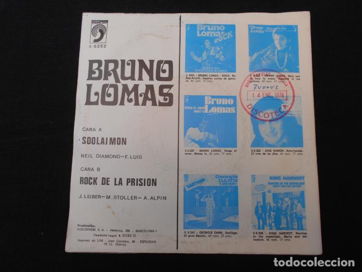 Discos de vinilo: BRUNO LOMAS // SOOLAIMON - ROCK DE LA PRISION - Foto 2 - 274014253