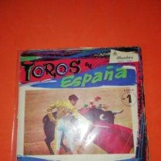 Discos de vinilo: TOROS EN ESPAÑA Nº 1 / LA CRUZ DE MAYO / LA GIRALDA / ESPAÑA CAÑI / VITO (CISNEROS) EP ALHAMBRA 1959. Lote 274181838