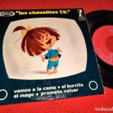 Discos de vinilo: LOS CHAVALITOS TV VAMOS A LA CAMA/EL BURRITO/EL MAGO +1 EP 7'' 1964 ZAFIRO. Lote 274182558