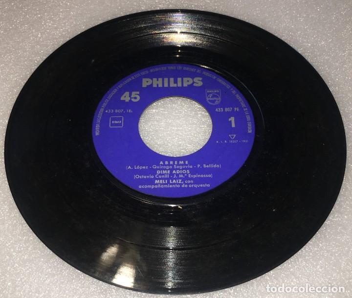Discos de vinilo: EP MELI LAIZ PRIMER CERTAMEN CANCION EN MADRID- ABREME Y OTROS TEMAS - PHILIPS -PEDIDO MINIMO 7€ - Foto 4 - 274191918