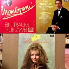 "Discos de vinilo: LOTE 3 VINILOS MONTOVANI 12"" LP DISCOS THE BEST OF WORLD VOL 2 EIN TRAUM FÜR ZWEI ORQUESTA DECCA. Lote 274228813"