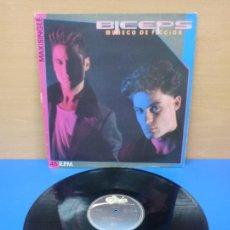 Discos de vinilo: MAXI SINGLE DISCO VINILO - BICEPS - MUÑECO DE FICCION. Lote 274244058