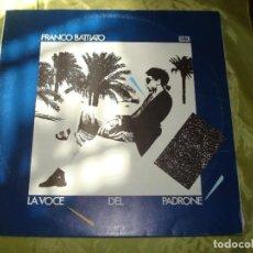Discos de vinil: FRANCO BATTIATO. LA VOCE DEL PADRONE. EMI, 1981. EDC. ITALIA. CON INSERT (#). Lote 274249128