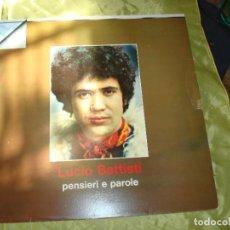 Discos de vinilo: LUCIO BATTISTI. PENSIERI E PAROLE. ORIZZONTE, 1971. EDC. ITALIA (#). Lote 274250513