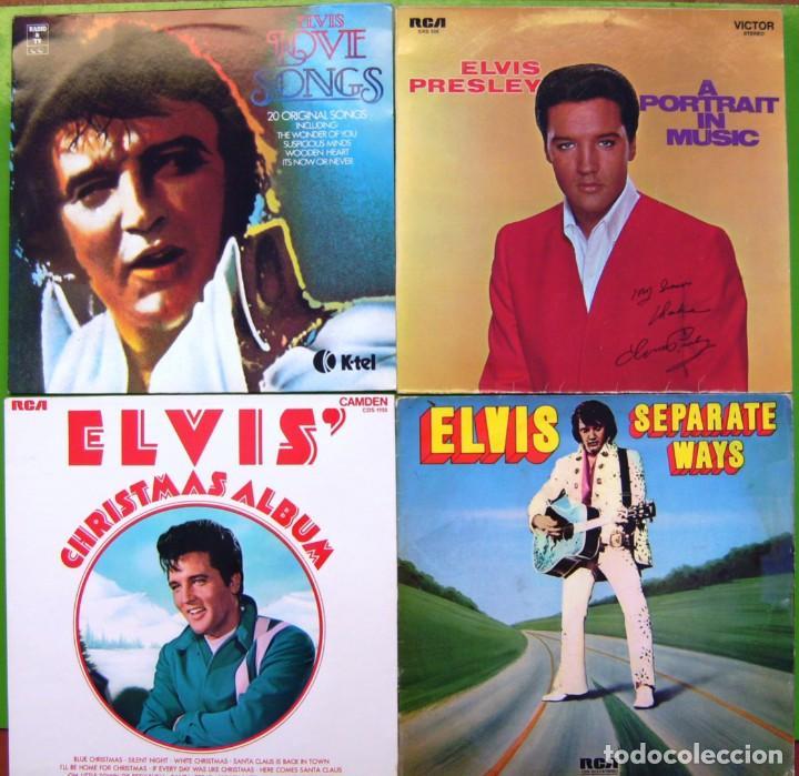 LOTE 4 LP DE ELVIS PRESLEY (SEPARATE WAYS, CHRISTMAS ALBUM, A PORTRAIT IN MUSIC, LOVE SONGS) (Música - Discos - LP Vinilo - Rock & Roll)