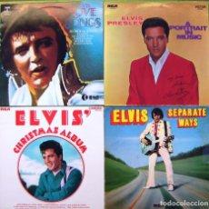Discos de vinilo: LOTE 4 LP DE ELVIS PRESLEY (SEPARATE WAYS, CHRISTMAS ALBUM, A PORTRAIT IN MUSIC, LOVE SONGS). Lote 274260983