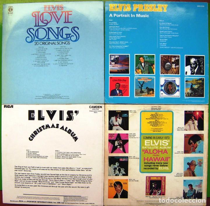 Discos de vinilo: Lote 4 LP de ELvis Presley (Separate Ways, Christmas album, A portrait in Music, Love Songs) - Foto 2 - 274260983