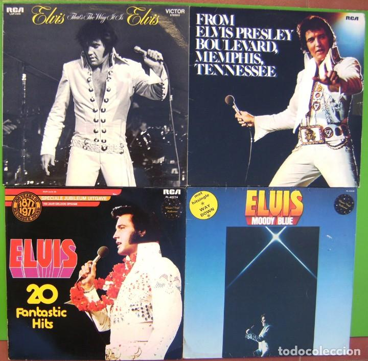 LOTE 4 LPS ELVIS PRESLEY (FROM BOULEVARD MEMPHIS T, MOODY BLUE, THAT'S THE WAY IT IS, 20 FANTASTIC H (Música - Discos - LP Vinilo - Rock & Roll)