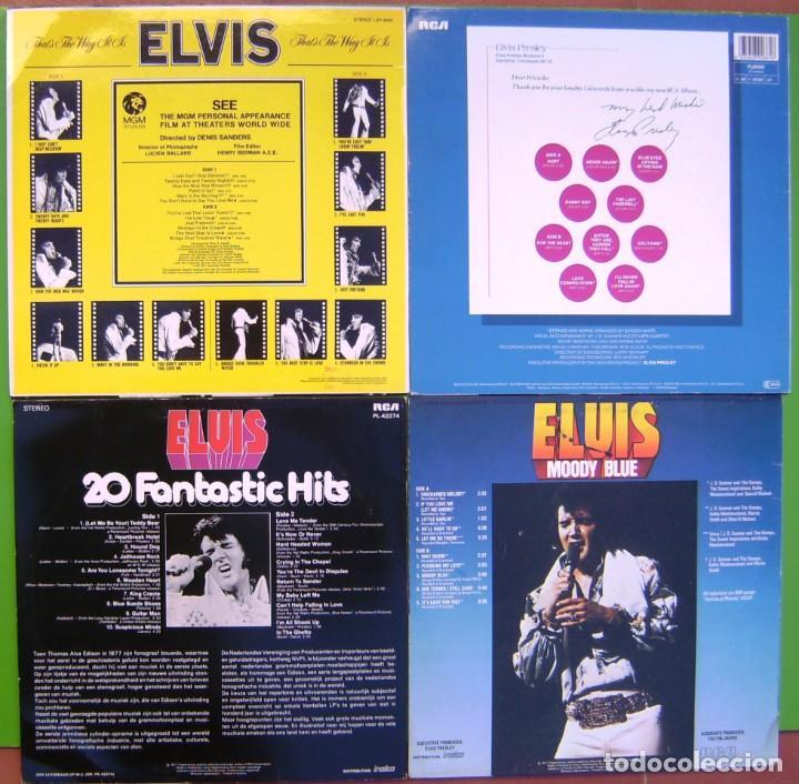 Discos de vinilo: Lote 4 LPs Elvis Presley (From Boulevard Memphis T, Moody Blue, Thats the way it is, 20 Fantastic H - Foto 2 - 274261893