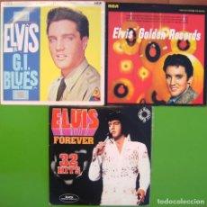 Discos de vinilo: LOTE 4 LP ELVIS PRESLEY (G.I. BLUES, GOLDEN RECORDS, ELVIS FOREVER 32 HITS -DOBLE-). Lote 274262338