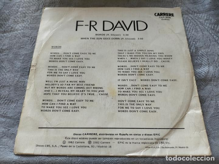 Discos de vinilo: Disco vinilo F-R DAVID words - Foto 2 - 274281063