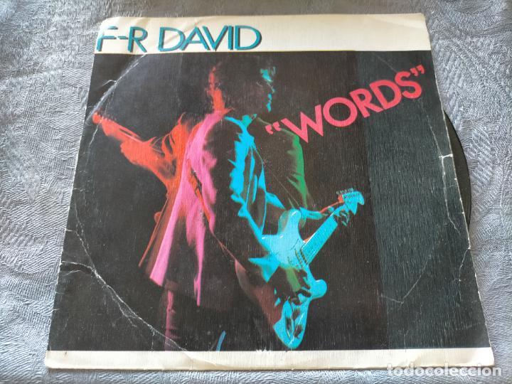 DISCO VINILO F-R DAVID WORDS (Música - Discos - Singles Vinilo - Cantautores Internacionales)