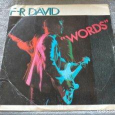 Discos de vinilo: DISCO VINILO F-R DAVID WORDS. Lote 274281063
