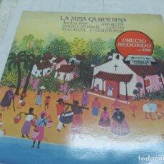Discos de vinilo: L.P. 33 RPM, LA MISA CAMPESINA, MIGUEL BOSÉ, ANA BELÉN, SERGIO Y ESTIBALIZ, LAREDO, ELSA BAEZA. Lote 274289498