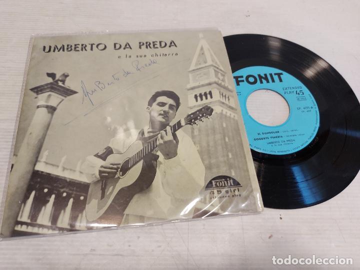 FIRMADO !! UMBERTO DA PEDRA E LA SUA CHITARRA / EP - FONIT / LEVES MARCAS. ***/*** (Música - Discos de Vinilo - EPs - Canción Francesa e Italiana)