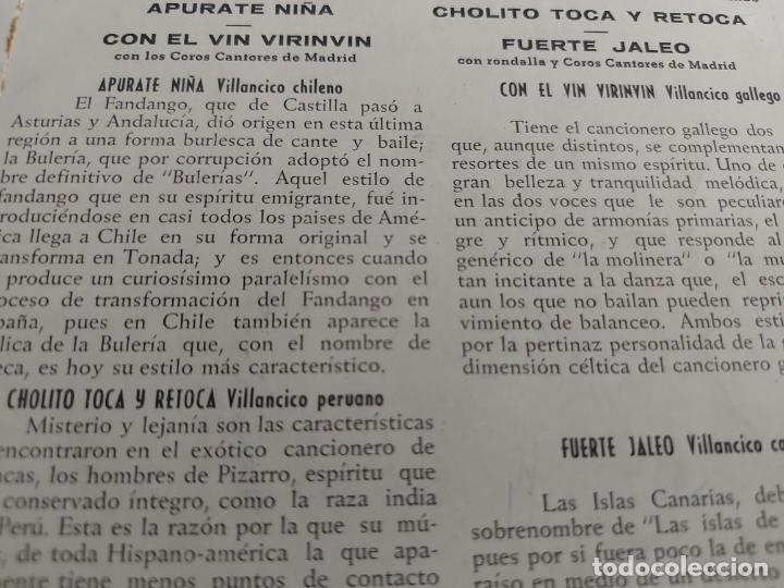 Discos de vinilo: CANTA ROSY DE VALENZUELA / EP - COLUMBIA-AÑOS 50 / MBC. ***/*** - Foto 3 - 274322998