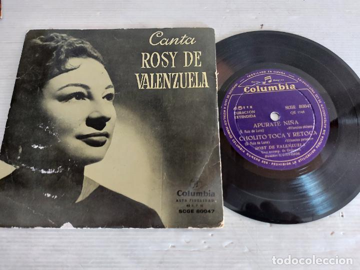 CANTA ROSY DE VALENZUELA / EP - COLUMBIA-AÑOS 50 / MBC. ***/*** (Música - Discos de Vinilo - EPs - Solistas Españoles de los 50 y 60)