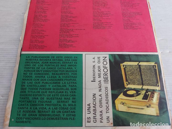 Discos de vinilo: JOAN MANUEL SERRAT / EL DRAPAIRE / SINGLE PROMO-EDIGSA-1963 PARA FONORAMA / MBC. ***/*** - Foto 2 - 274325688