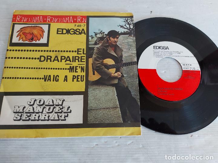 JOAN MANUEL SERRAT / EL DRAPAIRE / SINGLE PROMO-EDIGSA-1963 PARA FONORAMA / MBC. ***/*** (Música - Discos - Singles Vinilo - Cantautores Españoles)