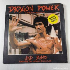 Dischi in vinile: SINGLE J.K.D BAND FEATURING THE VOICE OF BRUCE LEE - DRAGON POWER - UK - AÑO 1980. Lote 274325883