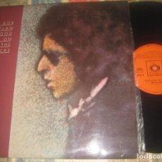 Discos de vinilo: BOB DYLAN- BLOOD ON THE TRACKS - (CBS CUADRADO1975 ) OG ESPAÑA + ENCARTE POSTER+ CARTA COMPLETO. Lote 274331078