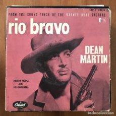 """Discos de vinilo: DEAN MARTIN / NELSON RIDDLE - RIO BRAVO - 7"""" EP CAPITOL FRANCIA 1959. Lote 274333293"""