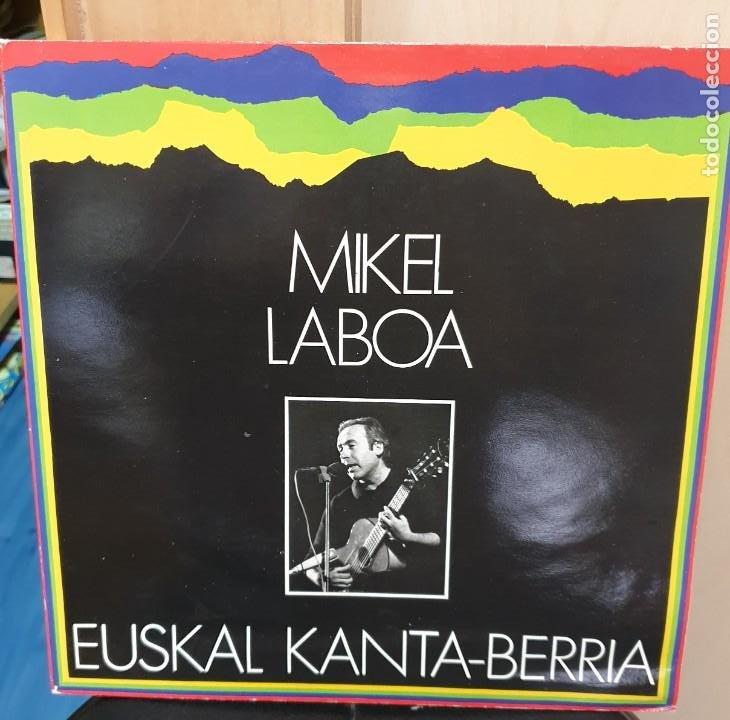 LP VINILO MIKEL LABOA EUSKAL KANTA-BERRIA ELKAR AÑO 1987 (Música - Discos de Vinilo - Maxi Singles - Cantautores Españoles)