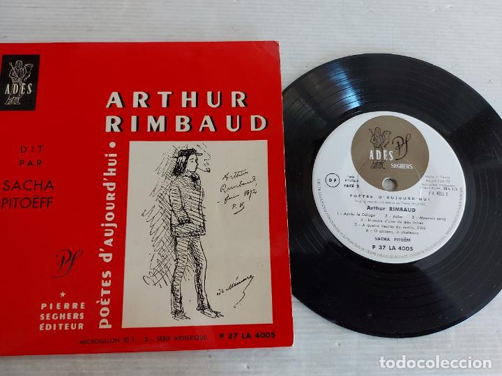 ARTHUR RIMBAUD / POÈTES D'AUJOURD'HUI / SACHA PITOËFF / EP-33 R.P.M. / MBC. ***/*** (Música - Discos de Vinilo - EPs - Otros estilos)