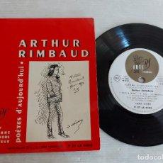 Discos de vinilo: ARTHUR RIMBAUD / POÈTES D'AUJOURD'HUI / SACHA PITOËFF / EP-33 R.P.M. / MBC. ***/***. Lote 274345018
