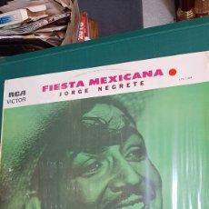 Discos de vinilo: PERFECTO NUEVO LP FIESTA MEXICANA JORGE NEGRETE 1972 RCA LPV 1304 DISCOS COLISEVM COLECCIONISMO. Lote 274350488