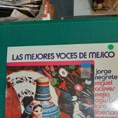 Discos de vinilo: RCA LAS MEJORES VOCES DE E MÉXICO LP 1974 PEDRO VARGAS /NUEVO BUENO ESTADO. Lote 274351993