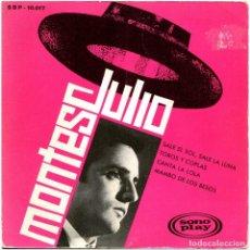 Discos de vinilo: JULIO MONTES - SALE EL SOL, SALE LA LUNA - EP PROMO SPAIN 1966 - SONOPLAY SBP-10017. Lote 274382068